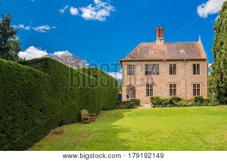Adelaide Australia - October 23 2016: Carrick Hill estate located at the foot of the Adelaide Hills. It is a historic property accessible for public