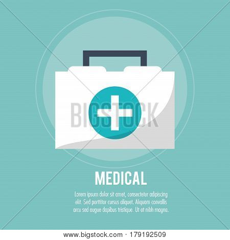 first aid box medical health care vector illustration eps 10