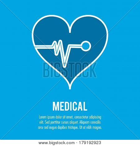 heartbeat cardiology medical health care vector illustration eps 10