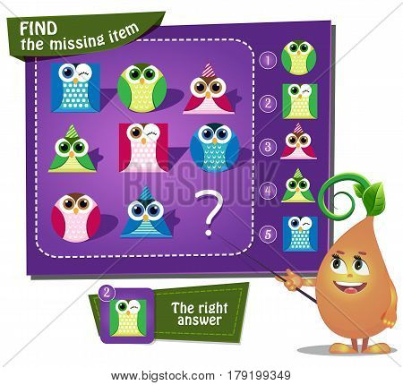 Find The Missing Owl, Figures