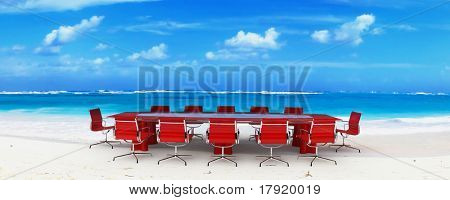 Meeting room in a tropical beach