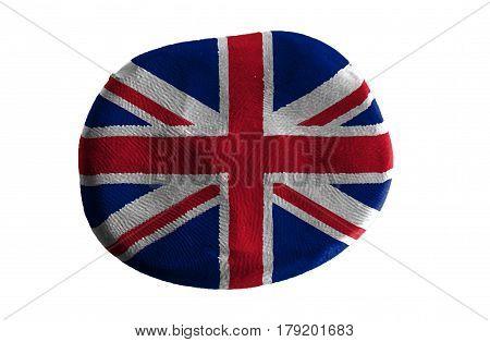 Flag of the Flag of England , England flag on clay