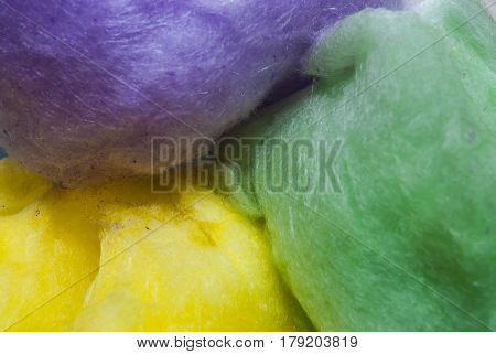 Closeup to Cute Colorful Cotton Candy Background