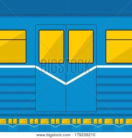 Metro train texture seamless vector background EPS10