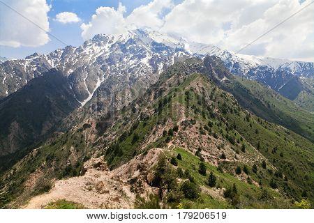 Chimgan mountains, Uzbekistan, on a sunny day