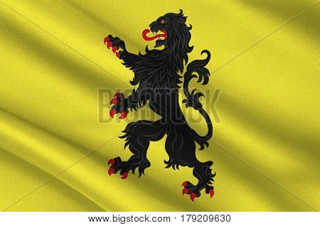 Flag of Nord is a department in Hauts-de-France is a Region in the far north of France. 3d illustration poster