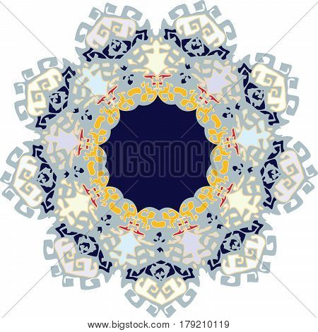 Modern and royal ornament with pale colors predominating