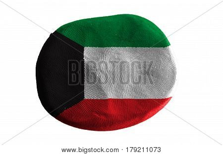 Flag of the Kuwait , Kuwait flag on clay