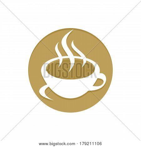 Gold Coffee icon. Golden web icons collection item. Icon symbo vector illustration