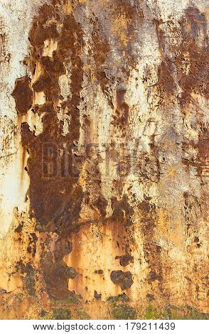 Abstract corroded colorful rusty metal background. Corroded panel