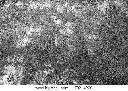 Rusty metal texture, rusty metal background. Grunge retro vintage of rusty metal plate for design with copy space for text or image. Black and white.