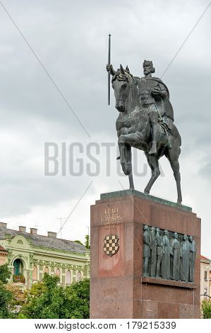 King Tomislav monument and square in central Zagreb, Croatia