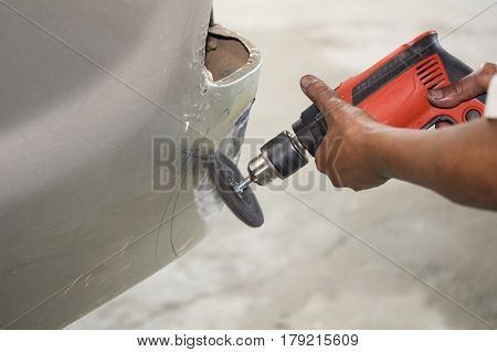 Car body work auto repair by tool - auto body repair