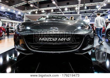 BELGRADE, SERBIA - MARCH 28, 2017 Belgrade Car Show  Mazda MX-5