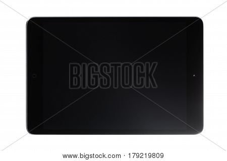 Black Touch Screen Tablet with black screen.