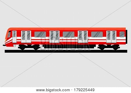Underground train. Isolated Subway transport. Vector illustration