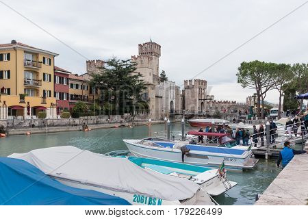 View Of Castello Scaligero From The Pier Of Sirmione