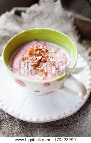 Finnish whipped porridge for dessert