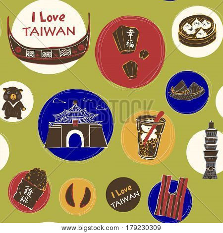 Taiwan Travel Concept Background