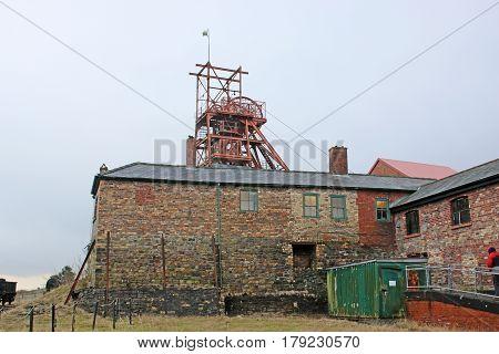 Buildings at Blaenavon coal mine in Wales