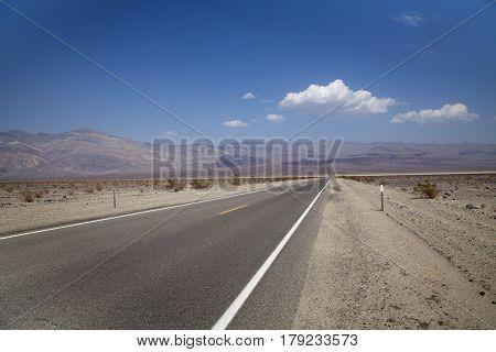The road through Death Valley, California, USA
