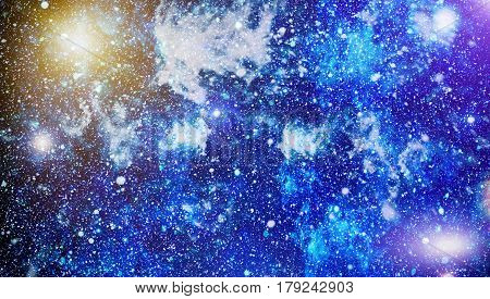 High definition star field background . Starry outer space background texture . Colorful Starry Night Sky Outer Space background
