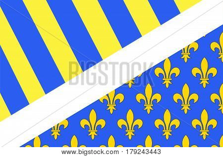 Flag of Oise is a department of Hauts-de-France is a Region in the north of France. Natives of the department are called Isariens. Vector illustration