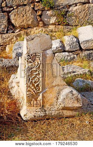 Bush Gate  In  Myra  The   Roman Temple