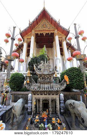 Bangkok, Thailand - December 15, 2014: Tour Of Wat Suthat Thepwararam Bangkok, Thailand