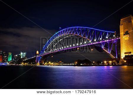 Vivid Festival - Light at Sydney harbour bridge