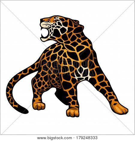 jaguar logo icon vector character illustration on white