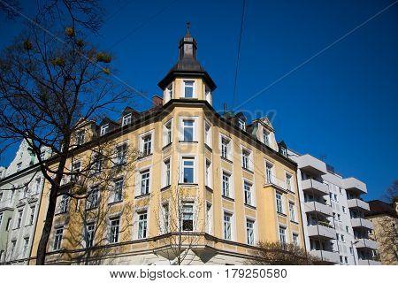 Art Nouveau house in munich, home, apartment