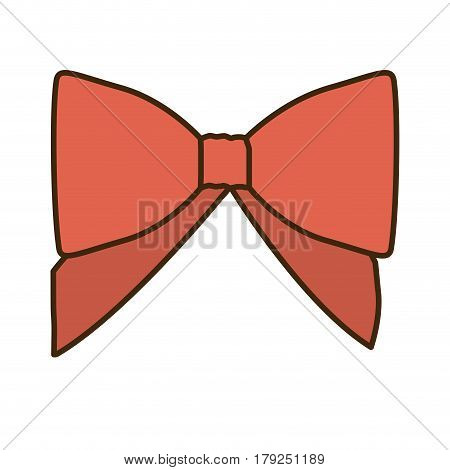 opaque color cute red ribbon with bow vector illustration