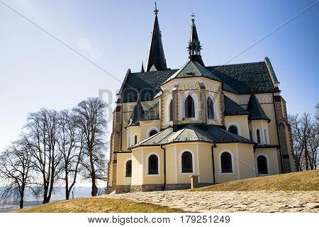 Basilica of the Visitation of the Blessed Virgin Mary on hill Marianska hora near town Levoca Slovakia