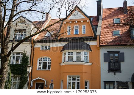 Family houses in Munich, europe, germany, single house