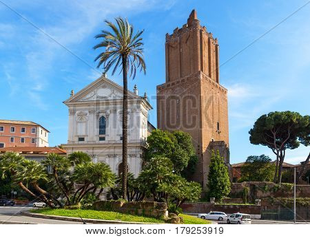 Tower of Market of Trajan in Rome, Italy