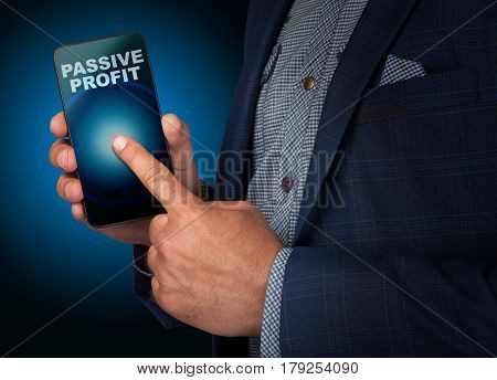 Professional Businessman Using Cloud Technology In Smart Phone With Servers Technology.