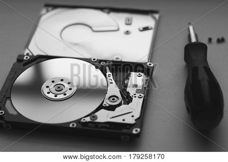 Took Apart The Hard Drive From The Computer, Hdd Drive,