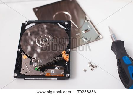 Took Apart The Hard Drive From The Computer,