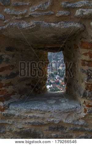 View of the city of Deva from fortress build in 1250
