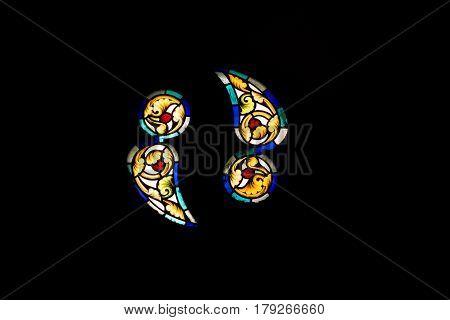 Vitrage window from Corvin's Castle , Romania