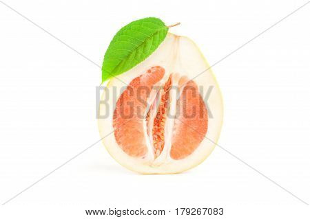 Pummelo isolated on a white background cutout