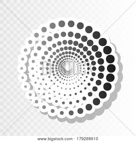 Abstract technology circles sign. Vector. New year blackish icon on transparent background with transition.
