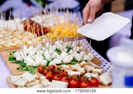 Finger Food Appetizers On Party