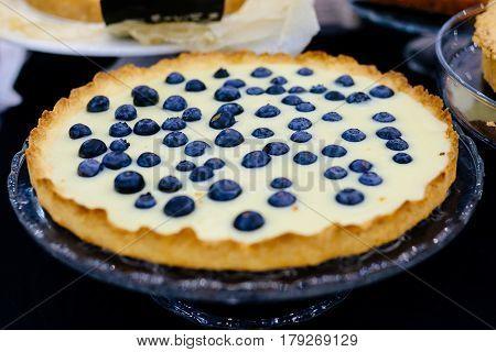 Delicious Sweet Bilberry Vanilla Cake