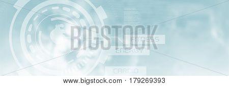 Human heart illustration over black background against three dimension image of pathogen 3d