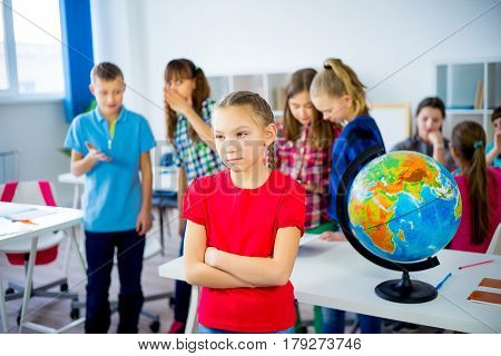 Students are byllying a girl at school