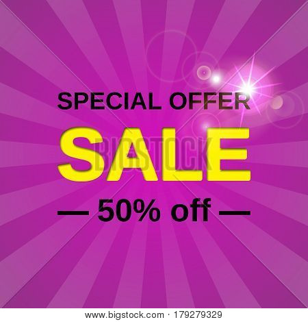 Sale banner. Vector. Special offer discount label. Template design background.