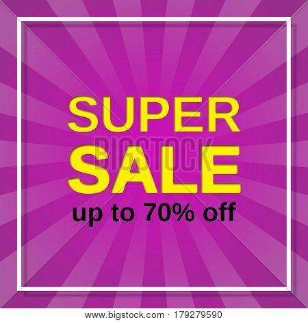 Sale banner. Vector. Super discount label. Template web design background.