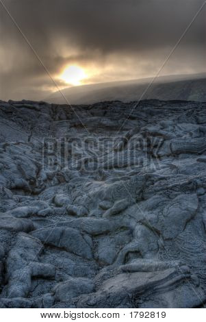Lava Field. Vertical Orientation